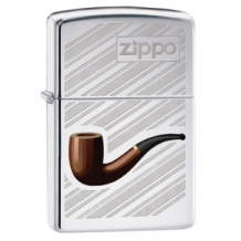 Zippo aansteker pipe with background
